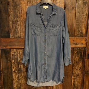 Cloth & Stone, M, Classic Blue Denim Shirt Dress